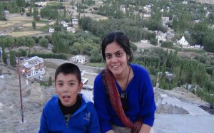 Nehal with homestay Owner's child