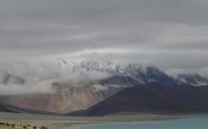 Next Morning-Snow clad mountain near Pangong