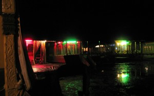 Kashmiri Houseboats at Night