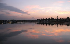 Dal Lake in the evening