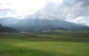 Scenic view of Gulmarg Golf Course during our walk from Gandola to taxi stand