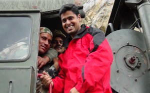 Chanak posing with our Brave Jawans