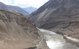 Confluence of Zanskar & the Indus rivers