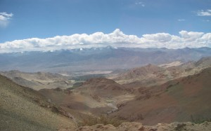View of Leh during the journey to Nubra Valley
